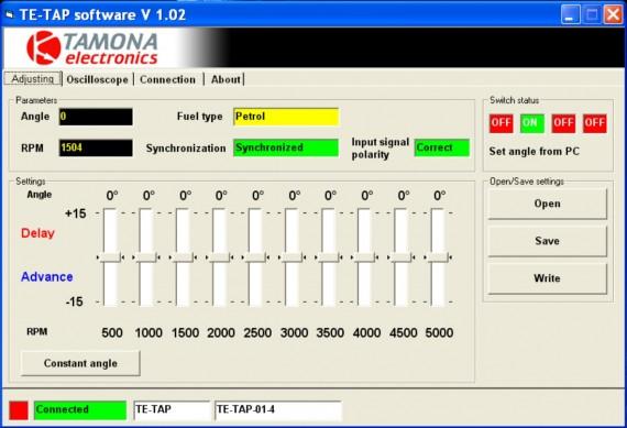 TE-TAP software RU