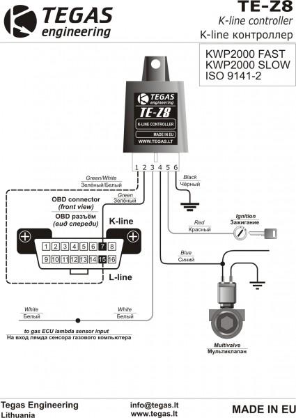 TE-Z8 Схема покдключения